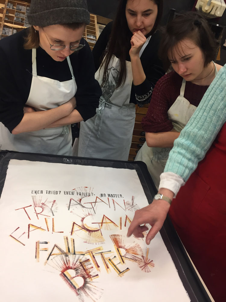 Future Text Lettering lessons from Mainz calligraphers by Monika Marek